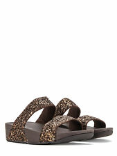 FitFlop Women's Glitterball Slide Sandals H24-012 Bronze