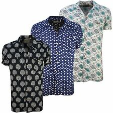 Soulstar Mens Branded Designer S/Sleeve Patterned Shirt, Available in 3 Colours