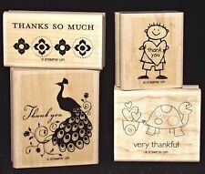 Stampin Up Thank you Rubber Stamp Singles Thanks so much from Very Thankful