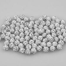 100x Crystal Rhinestone Pave Clay Disco Ball Spacer Bracelet Beads 6/8/10/12mm