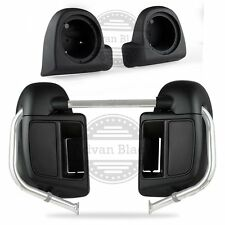 Denim Black Lower Vented Fairings Speaker Pods for 14 15 16 17 Harley Road Glide