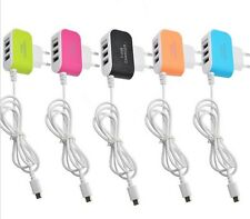 Triple USB Port Wall Home Travel  AC Charger Adapter Micro Cable  Mobile Phone