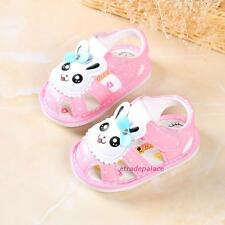 New Baby Girls Toddlers Closed Toe Sandals Shoes Sweet Rabbit Soft Soled 0-1-2T
