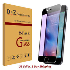 """2PK Full Coverage 3D Tempered Glass Screen Protector Film for iPhone 7 Plus 5.5"""""""