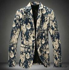 New Fashion Mens Casual Slim fit  two Button Suit Blazer Coat Jackets M-5XL Size