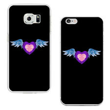 Heart Angel Wing Plastic Phone Case Cover for iPhone 5 Samsung Galaxy S7 Candid