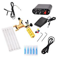 Pro Rotary Tattoo Machine Gun with Power Supply Foot Pedal Clip Cord Kit Set