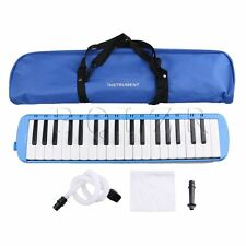 BQLZR 2 Colors Plastic 37 Keys Piano Melodica Musical Instrument with Carry Bag