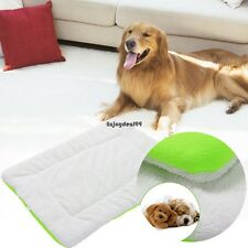 New Fleece Rectangle Soft Dog Crate Mat Cage Pad Bed Pet Cushion L Size OO5501
