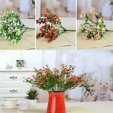 Artificial Fake Lavender Bouquet Silk Flowers Leaf Wedding Party Home Decoration