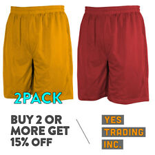 Men's Mesh Jersey Athletic Fitness Workout Colors Shorts with Pockets S - 5XL