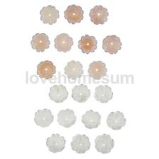 10pcs Natural Freshwater Shell Hand-Carved Flower Beads for Jewelry Making