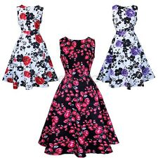 Summer Women Vintage Maxi Evening Party Cocktail Dress Floral Swing Sundress