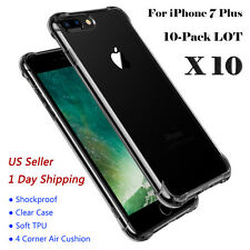 Wholesale Lot Hybrid TPU Shockproof Back Cover Clear Case For iPhone 7 Plus