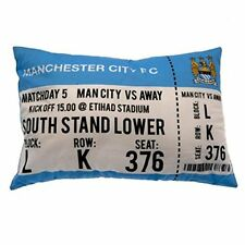 NEW MANCHESTER CITY CUSHIONS MATCH TICKET - T SHIRT PILLOW OFFICIAL PRODUCT