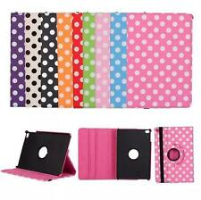 360 Rotating Polka Dot Leather Stand Case Cover For New iPad Air Mini Pro 2017