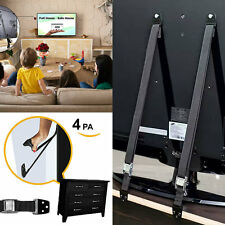 Anti-Tip Flat Screen TV Strap and Heavy Duty Furniture Straps Child Safety Wall