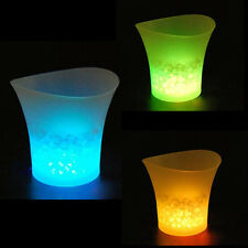 5L LED Ice Bucket Color with Light Change Flashing Cool Bars Night Party MU