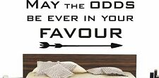 MAY THE ODDS BE EVER IN YOUR FAVOUR MATTE VINYL HUNGER GAMES1 FILM WALL ART DIY