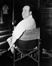 Alfred Hitchcock in Directors Chair Poster or Photo