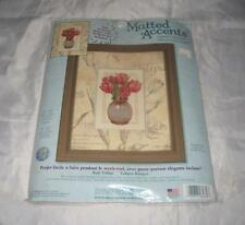 Dimensions Matted Accents Counted Cross Stitch Red Tulips 6982