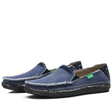 Casual Driving Moccasin Mens Shoes Denim Cloth Summer Comfort Loafers Shoes