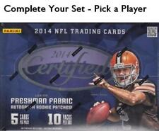 2014 Panini Certified Football Singles - Pick a Player - Economy Shipping