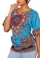 Womens Turquoise Dashiki T Shirt