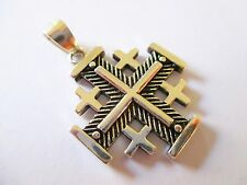 JERUSALEM 925 STERLING SILVER CRUSADER CROSS, PENDANT FROM JERUSALEM #22