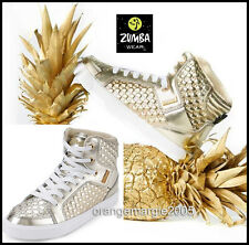 ZUMBA STREET BOSS High Top Shoes Trainers Orlando --Zumba's Top Line!! Gold 8, 9