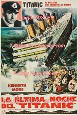 "A NIGHT TO REMEMBER 1959 = Titanic DISASTER Spanish = POSTER 7 SIZES 19"" - 36"""