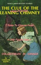 """NANCY DREW Leaning Chimney SYMBOL = POSTER Not Book CHOOSE FROM 7 SIZES 19""""-36"""""""