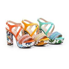 Bohemian Bead Rope Floral Embroidery Heels Platforms Womens Sandals Summer Shoes