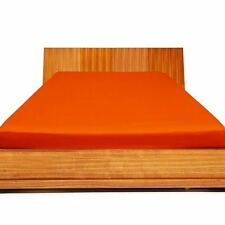 """1000TC Egyptian Cotton UpTo 30"""" Deep Pocket Fitted Sheet All Size Orange Solid"""