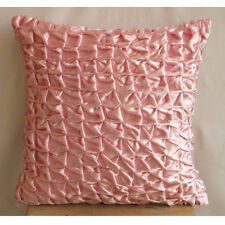 Knotted Pintucks 65x65 cm Velvet Pink Euro Shams Covers - Soft Pink Snow