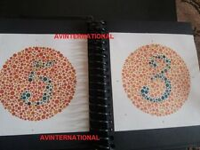 38 PLATE ISHIHARA TESTS BOOK  FOR COLOR BLINDNESS TESTING EYE KFW