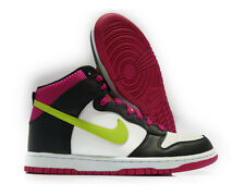 [317982-127] NIKE DUNK HIGH WHITE VOLT BLACK FIREBERRY MEN Sz 8