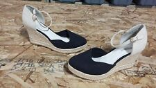 New Womens Covington Cape Espadrille Wedge Sandal Style 47624 Ivory/Black 111T