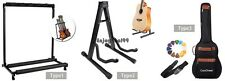 5 Guitar Stand Folding Rack Organizer Electric Acoustic Guitar Bag Case OO55