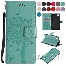 Pu leather cat and tree cute patterns For Sony Xperia XA1/L1 print phone case