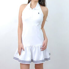 793 NWT Polo Ralph Lauren girls  Nisa Halter Polo Dress White L,XL