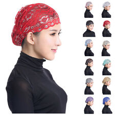 Islamic Muslim Inner Hat Lace Under Scarf Hijab Bonnet Cap Headwear Head Cover