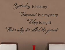 NEW Yesterday, Tomorrow, Today Wall Quote Decal for Mom