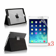 New PU Leather Stand Case Cover+3x LCD Film For 2017 Apple iPad 9.7 A1822/A1823