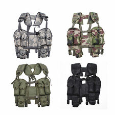 USGI MILITARY TACTICAL WOODLAND CAMO LOAD BEARING COMBAT ASSAULT LBV 88 VEST