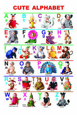 "My ABC Alphabet Learn table Silk Cloth Poster 20x13""/36x24"" Decor 15"