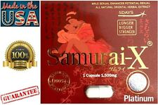 Samurai-X Platinum 1500 Male Sexual Enhancement Performance Enhancer