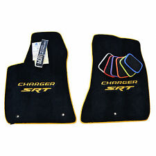 Dodge Charger SRT Floor Mats - Yellow - Blue - Red - Silver - 32OZ 2-PLY Carpet
