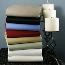 Twin Size 4 pc Bedding Sheet Set 1000 TC 100%Egyptian Cotton All Solid Colors