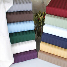 King Size 4 pc Bedding Sheet Set 1000 TC 100%Egyptian Cotton All Striped Colors